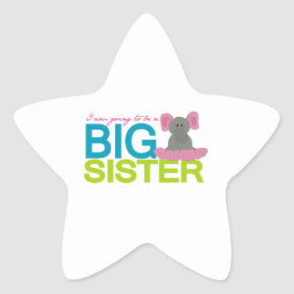 A am going to be a big Sister Elephant Star Sticker