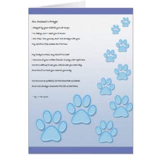 A Animal's Prayer - Card