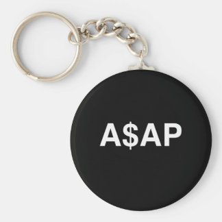 A$AP BASIC ROUND BUTTON KEY RING
