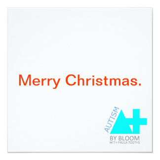 A+ Autism Plus UK Minimalist Christmas Card 13 Cm X 13 Cm Square Invitation Card