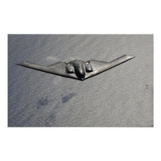 A B-2 Spirit flies over the Pacific Ocean Photo