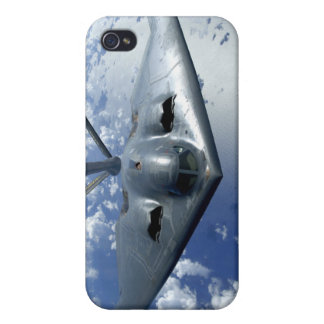 A B-2 Spirit moves into position for refueling iPhone 4 Cover