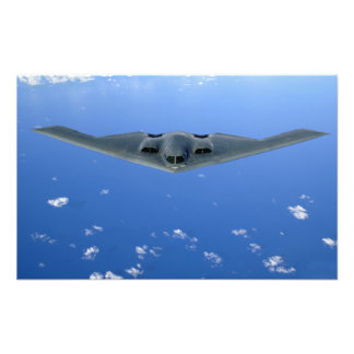 A B-2 Spirit soars through the sky Art Photo
