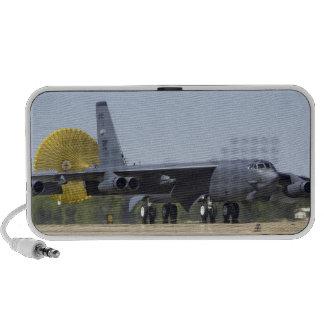 A B-52 Stratofortress deploys its drag chute iPod Speaker