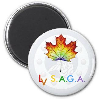 A.B._Lucas_Secondary_School_logo dull, stockpho... 6 Cm Round Magnet