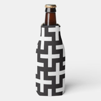 A b&w patterns made with 'plus' sign bottle cooler