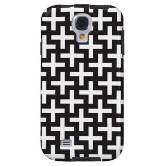 A b&w patterns made with 'plus' sign galaxy s4 case