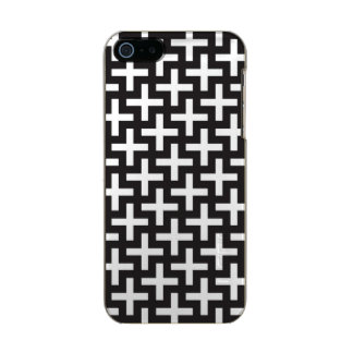 A b&w patterns made with 'plus' sign incipio feather® shine iPhone 5 case