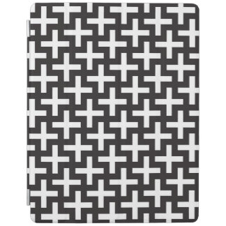 A b&w patterns made with 'plus' sign iPad cover