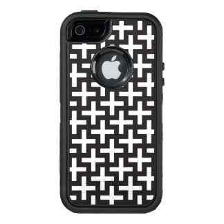 A b&w patterns made with 'plus' sign OtterBox iPhone 5/5s/SE case