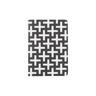 A b&w patterns made with 'plus' sign passport holder