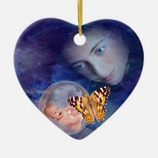 A baby and mother's joy christmas ornament