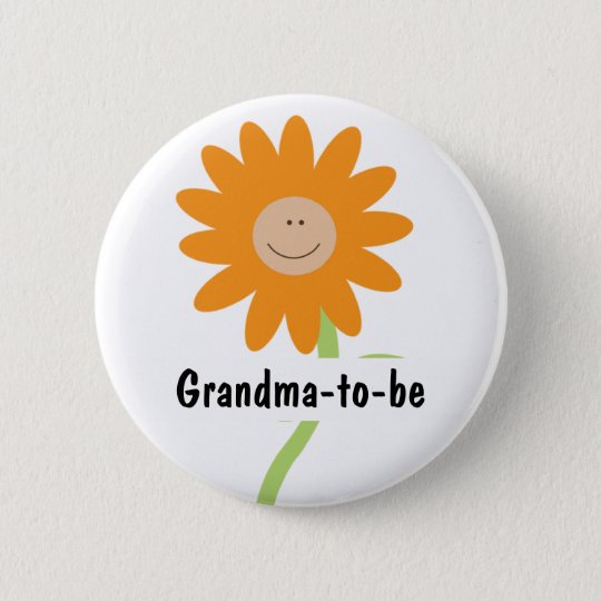 A BABY IS BLOOMING Baby Shower Button Personalised