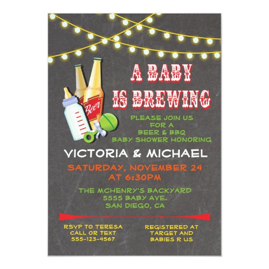 A Baby is Brewing Baby Shower Invitations