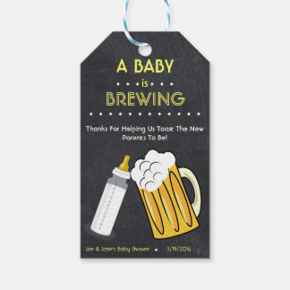 A Baby Is Brewing Favor Tag