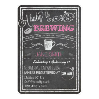 A Baby is Brewing (Girl)! Card