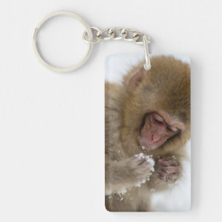 A baby Japanese Macaque (or snow monkey) Key Ring