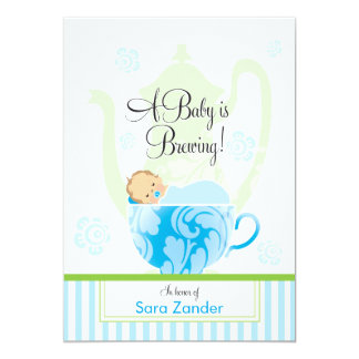 A Baby Shower Tea Party  |  Boy Card