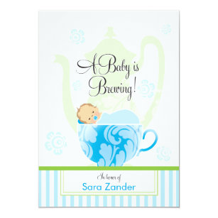 Tea party baby shower invitations zazzle uk a baby shower tea party boy invitation filmwisefo