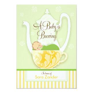 A Baby Shower Tea Party  |  Gender Neutral 13 Cm X 18 Cm Invitation Card