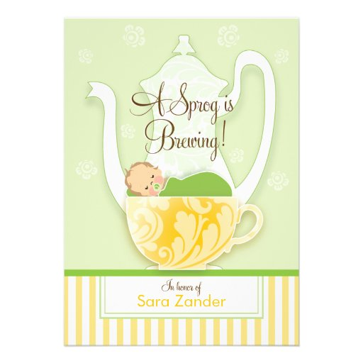 A Baby Shower Tea Party  |  Gender Neutral Personalized Invite