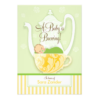 A Baby Shower Tea Party Gender Neutral Announcements