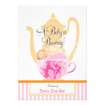 A Baby Shower Tea Party  |  Girl Personalized Invite