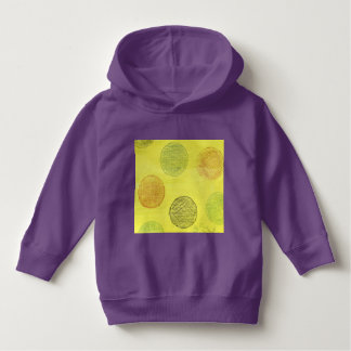 A baby's  yellow polka dot hoodie. hoodie