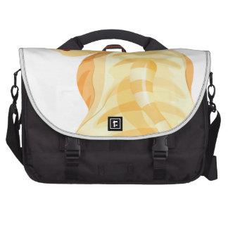 A backview of an orange cat laptop bags