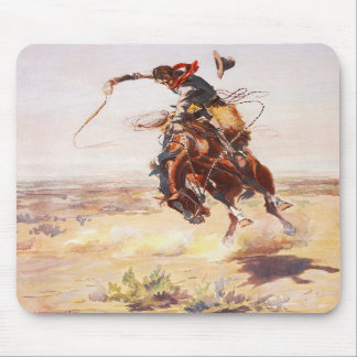 A Bad Hoss by Charles Marion Russell in 1904 Mouse Pads