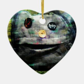 A bag for life ceramic heart decoration
