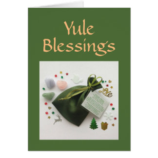 A Bag of Yule Blessings Pagan Wiccan Holiday Card
