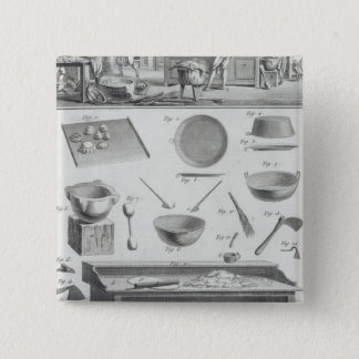 A baker's kitchen and equipment, from the 'Encyclo 15 Cm Square Badge