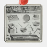 A baker's kitchen and equipment, from the 'Encyclo Christmas Ornament