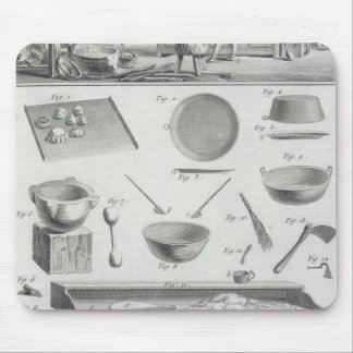 A baker's kitchen and equipment, from the 'Encyclo Mouse Mat
