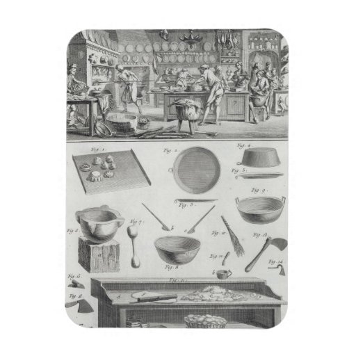 A baker's kitchen and equipment, from the 'Encyclo Magnet