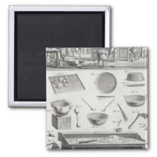 A baker's kitchen and equipment, from the 'Encyclo Square Magnet