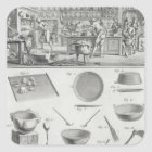 A baker's kitchen and equipment, from the 'Encyclo Square Sticker