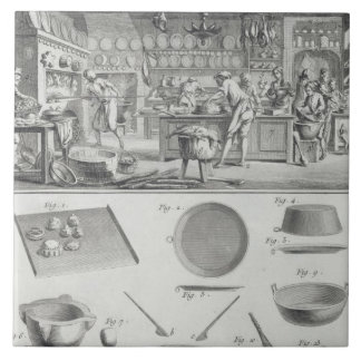 A baker's kitchen and equipment, from the 'Encyclo Tile