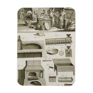A bakery and baking equipment, from the 'Encyclope Rectangular Photo Magnet