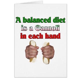 A Balanced Diet Card
