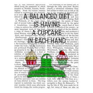 A Balanced Diet Illustration Postcard