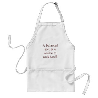 A balanced diet is a cookie in each hand aprons