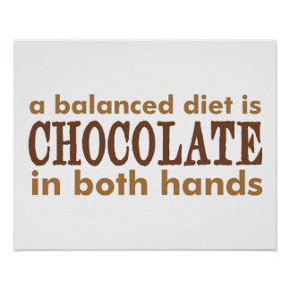 A Balanced Diet is... Poster