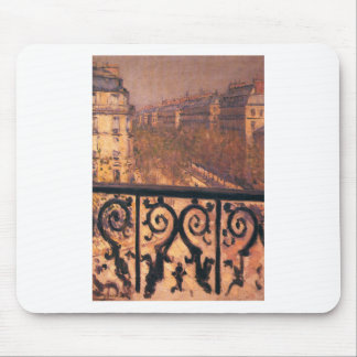 A Balcony in Paris by Gustave Caillebotte Mouse Pad