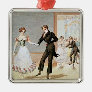 A Ball Silver-Colored Square Decoration