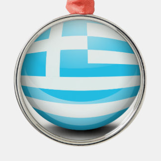 A ball with the flag of Greece Christmas Ornament
