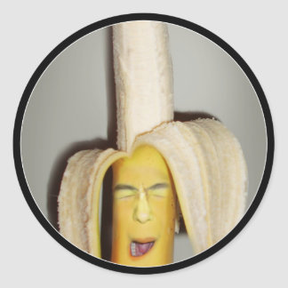 A Banana Splitting Headache Round Sticker