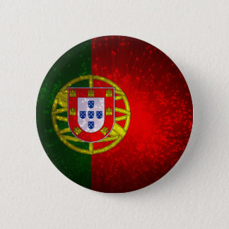 A bandeira de Portugal 6 Cm Round Badge