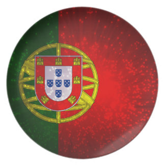 A bandeira de Portugal Plate